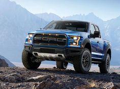 blue  Ford Raptor with black detailing
