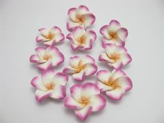 fimo flower 22 by ThirdEarDear on Etsy, $1.50