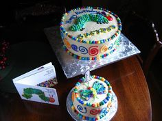 Kitchen Bliss: Jackson's Very Hungry Caterpillar Cake!