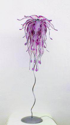 Esculturas - Lampara de pié, Medusa - hecho a mano por Dasca-design en DaWanda