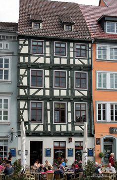 Fachwerkhaus - half-timbered house, Erfurt, Thuringia, Germany