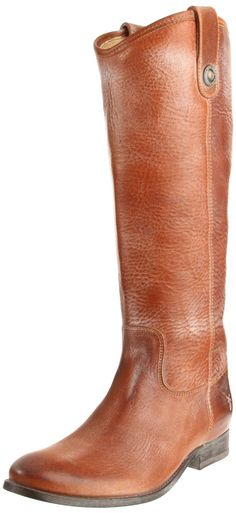Frye Melissa Button Knee-High boots in Saddle. Simple, classic and clean, these'd make so many outfits.