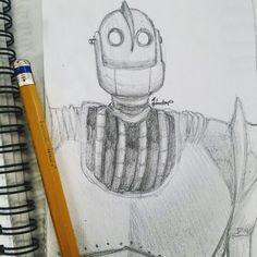Semana #2: ROBOTS - Doodle #5 Un pequeño fanart del Gigante de Hierro, una de mis películas favoritas de niña y de todos los tiempos.