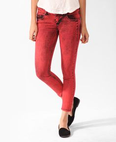 Colored Mineral Wash Skinnies