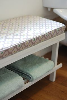 A little shoe rack IKEA hack for my entry into the Hillarys Craft Competition 2015 — it used to be a shoe rack and now it's a lovely bathroom bench seat