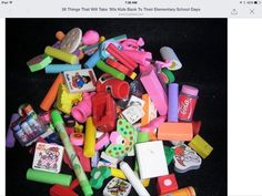 I had more erasers than anyone in the third grade!