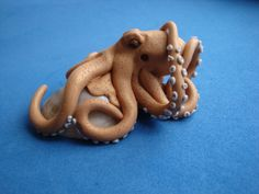 Common octopus polymer clay miniature by ForestofEnchantments, $50.00