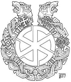 Tattoo Rusi old Norse Mythology Tattoo, Slavic Tattoo, Norse Tattoo, Celtic Tattoos, Viking Tattoos, Viking Designs, Celtic Designs, Viking Symbols, Viking Runes
