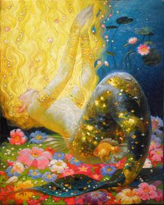 """"""" Victor Nizovtsev siren song """" more art by Victor Nizovtsev Art And Illustration, Victor Nizovtsev, Mermaids And Mermen, Mermaid Art, Psychedelic Art, Pretty Art, Mythical Creatures, Art Inspo, Amazing Art"""