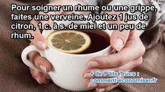 Pendant l'hiver, les coups de froids, rhumes et autres grippes sont monnaies courantes. N'attendez pas que votre état empire... L'astuce consiste à se faire un bon grog en suivant la petite recette suivante. Regardez :  Découvrez l'astuce ici : http://www.comment-economiser.fr/remede-pour-le-rhume.html?utm_content=buffer29bf5&utm_medium=social&utm_source=pinterest.com&utm_campaign=buffer