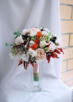 """Купить Свадебный букет """"Питерская свадьба"""" - кремовый, осень, свадьба, свадебный букет"""