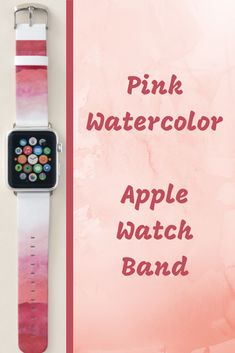 Shop Pink Watercolor Ombre Apple Watch Band created by SparkleandGlitter. Pink Apple Watch Band, Best Apple Watch, Apple Watch Series 1, Apple Fitness, Best Fitness Tracker, Band Outfits, Pink Watercolor, Print Design, Series 4