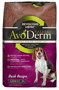 AvoDerm Natural Revolving Menu Adult Dog Food Duck 22Pound *** Want to know more, click on the image.