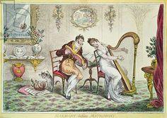 Harmony before Matrimony, 1805 (colour engraving)