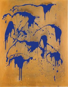 Yves Klein - Untitled Fire Colour Painting (FC 28) (1962)