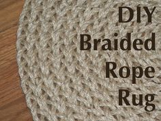 Jute Rug, Part I - maybed possible with I-cord ? | Wolle / Yarn - Ideas |  Pinterest | Jute rug, Jute and Rugs