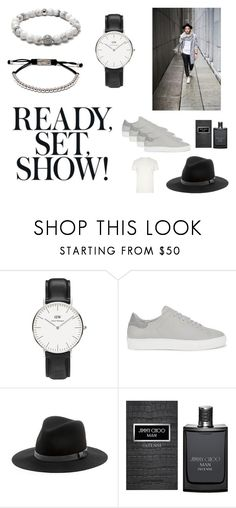 Details is what makes the difference. by vonlukacs on Polyvore featuring River Island, Jimmy Choo, Daniel Wellington, Sole Society, Axel Arigato, men's fashion and menswear