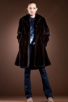 727a07a92a85 Mahogany Mink Mid-Length Fur Coat