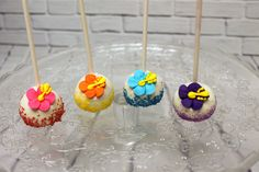 These hibiscus cake pops are the perfect compliment to a tropical themed party Hibiscus Cake, Custom Cookies, Cake Pops, Compliments, Party Themes, Icing, Tropical, Urban, Sweet