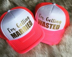 Just Drunk Party Hats by Preparewear on Etsy
