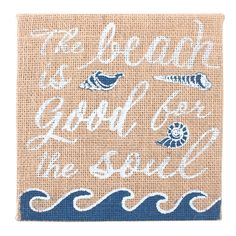 Wholesale Hessian beach/soul plaque - Something Different