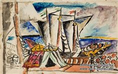 Boats by Pyotr Konchalovsky hand painted reproduction  100% Handmade Reproductions of Pyotr Konchalovsky:  http://www.art-4-home.com/pyotr-konchalovsky/boats-p34020.html  Museum Quality at the best price on Internet. Purchase Boats by Pyotr Konchalovsky reproduction on canvas Oil reproductions of Boats with custom size