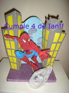 Esto hice de Spiderman para el cumple de mi otro niño