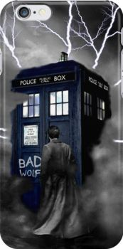Ligthning Into Blue Bad Wolf Public Police Call Box by Jason Subroto Police Call, Bad Wolf, Home Art, New Homes, Iphone Cases, Public, Box, Movie Posters, People