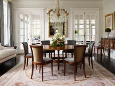 Classic Northshore Home  Dining  Architectural Details by MorganteWilson