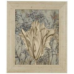 "Tulips and Wild Flowers V 25"" High Framed Wall Art - #3H601 