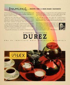 1937 Ad General Plastics Durez Silex Coffee Becher - ORIGINAL ADVERTISING #vintage #advertising #coffee