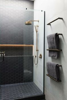 Even your glass shower door can improve the looks of your restroom instantly. You could utilize colorful glass shower doors or stained glass shower doors with different themes on stained glass. Basement Bathroom, Bathroom Flooring, Bathroom Wall, Shower Bathroom, Bathroom Ideas, Bathroom Cabinets, Bathroom Organization, Shower Ideas, Shower Floor
