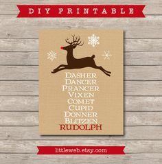 Christmas Reindeer Printable