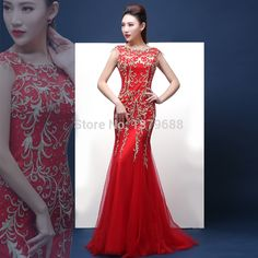 New arrival beaded sexy evening dresses v back opening mermaid dresses prom party dress  free shipping-in Evening Dresses from Weddings & Events on Aliexpress.com | Alibaba Group