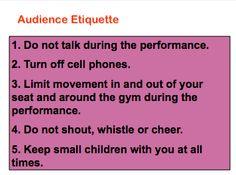 Beth's Music Notes: Concert Etiquette for Parents