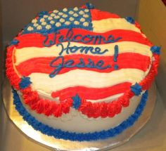 1000 ideas about military welcome home on pinterest for Welcome home cake decorations