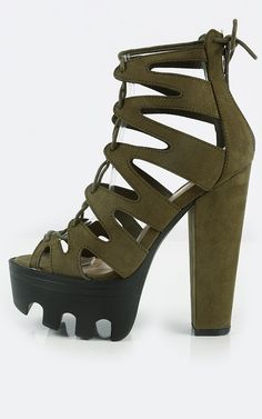 Lace me up in these bad boys lug sole heels! | MakeMeChic.com