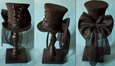 I would love to see people in top hats! - Mini corset hat! by CUNENE DESIGN Oh my gosh, I love this.