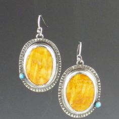 Spiny Oyster Shell and Turquoise Earrings | Michele Grady Designs www.michelegrady.com
