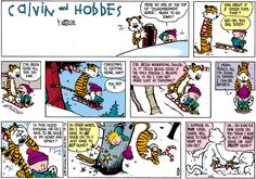 Calvin And Hobbes, At the top of Dismemberment Gorge.