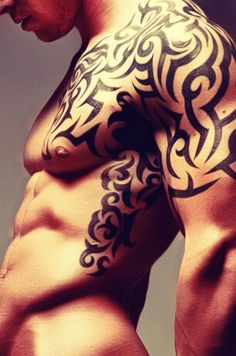 I love the tribal tattoos there so sexy