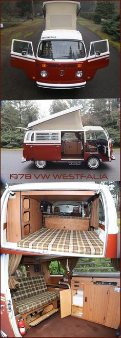 1978 Volkswagen Westfalia Bus Camper NO RESERVE 1 Fam Owned VW Factory! Beautiful bus , factory westfalia , poptop , clean! ☮ pinned by http://www.wfpblogs.com/author/southfloridah2o/