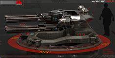 Концепт скорострельной пушки на магнитной подушке с использованием новых технологий и возможностей.