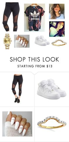 """""""Zendaya Outfit"""" by booie14 ❤ liked on Polyvore featuring Onzie, adidas Originals, NIKE, Elora and Rolex"""