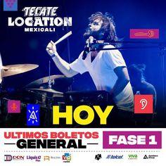 Hoy es el último día de la Fase 1 de boletos para el Tecate Location Mexicali.  Es el 14 de abril en #CiudadDeportiva con Zoé Oficial Enjambre Costera y Reyno.  Va a estar bueno!
