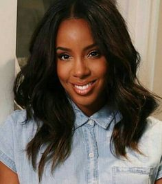 15 Ideas Wedding Hairstyles For Black Women Natural Kelly Rowland - kiana Sew In Hairstyles, Black Women Hairstyles, Wedding Hairstyles, Hairstyles Pictures, Women's Curling, Wavey Hair, Black Is Beautiful, Hair Inspiration, Natural Hair Styles