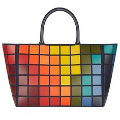 Anya Hindmarch Pixels Ebury Tote ($2,655) ❤ liked on Polyvore featuring bags, handbags, tote bags, tote handbags, tote purses, handbags totes, leather handbags and leather handbag tote