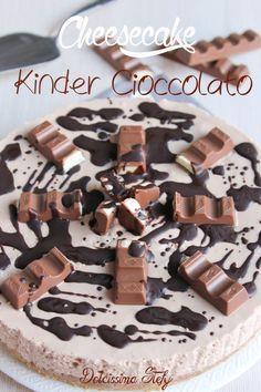 Cheesecake Kinder Cioccolato,ricetta senza cottura- Dolcissima Stefy