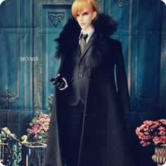 104.50$  Watch now - http://ali4b1.worldwells.pw/go.php?t=32759670680 - Bjd sd dd doll suit bjd doll fox collars cashmere overcoat - 1/3 uncle customize size 104.50$