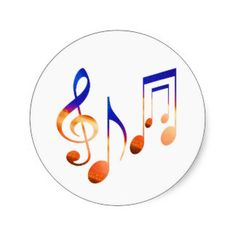 Dancing Music Signs Classic Round Sticker
